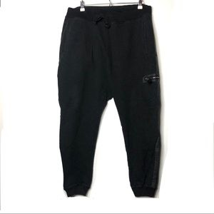 All Saints black joggers sweatpants XL A2